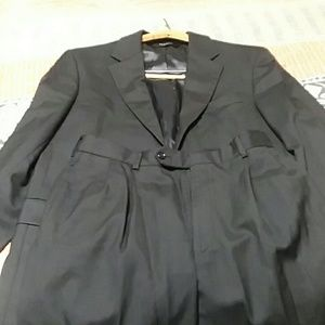 Joseph A. Bank Black Wool Suit